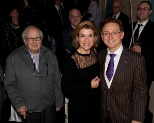 Sir André Previn, Anne-Sophie Mutter, Sebastian Currier, and me