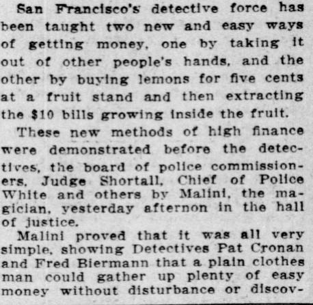 Malini article San Francisco Call